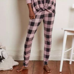 Women's Buffalo Check Cozy pajamas pants XL
